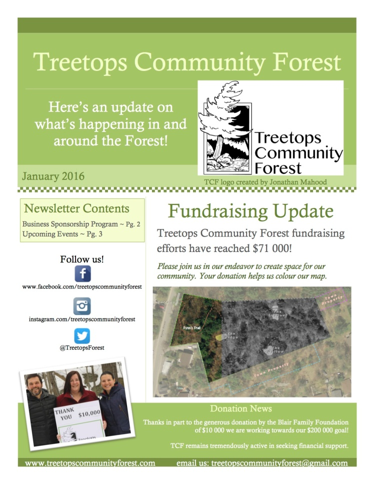 Treetops Newsletter Jan 2016