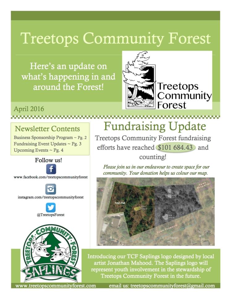 Treetops Newsletter April pg 1