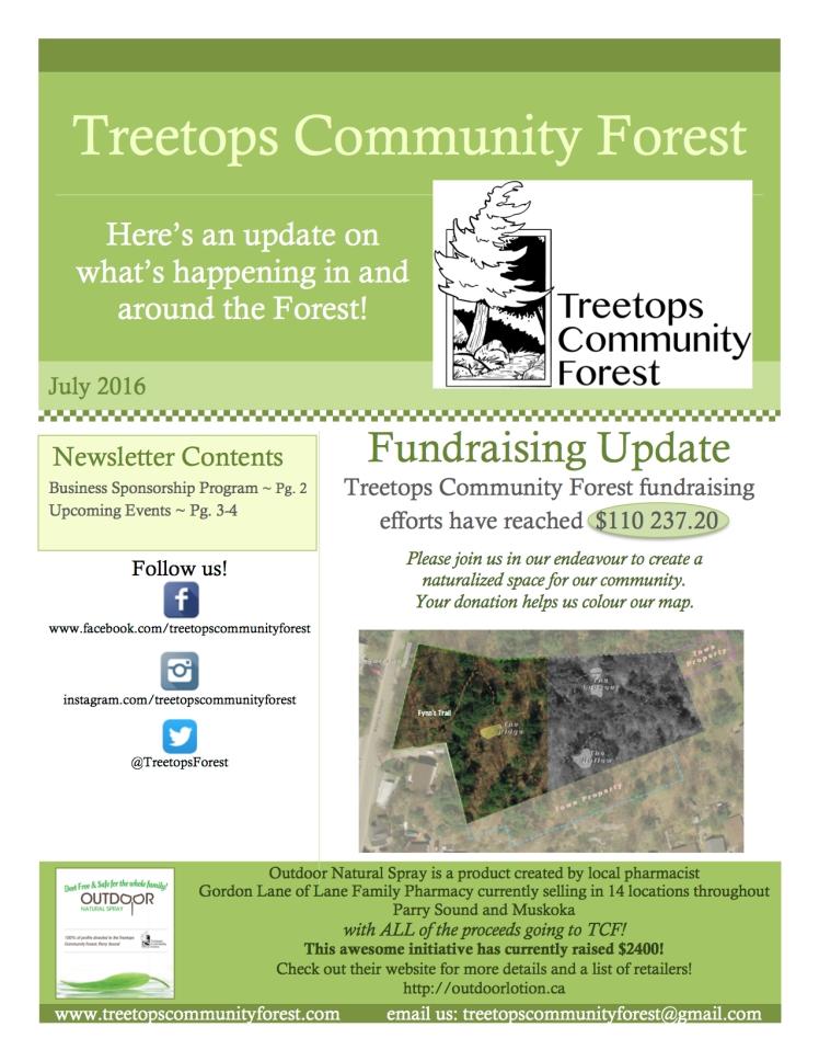 Treetops Newsletter July 2016 1